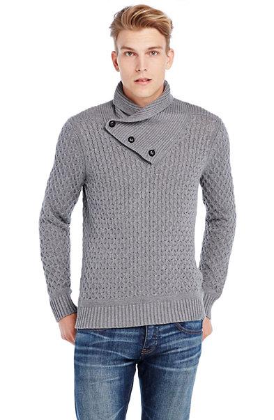 Shawl Neck Crossover Sweater