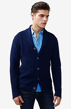 Textured Ottoman-Stitch Cardigan