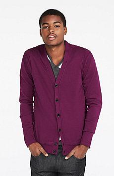 Reversed Jersey Cardigan