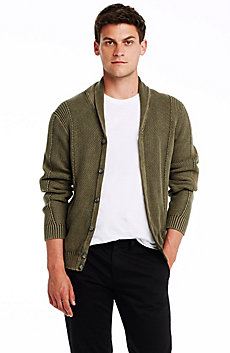 Pigment-dyed Shawl Collar Cardigan