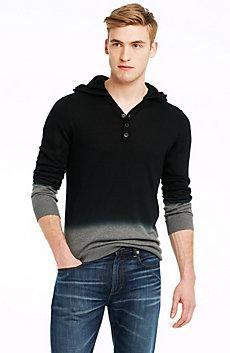 Dip-dye Colorblock Hoodie Sweater