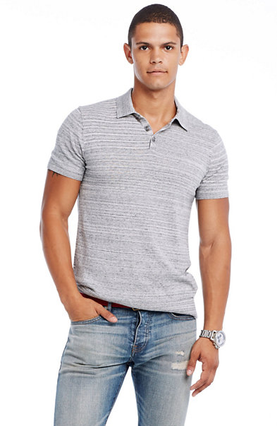 Lightweight Cotton Polo Sweater