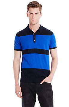 Bold Stripe Polo