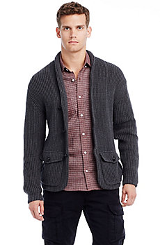 Cardigan Rib Sweater Blazer