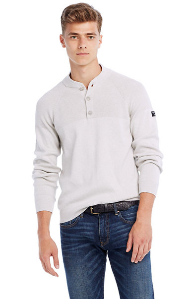 Cotton Utility Henley Sweater