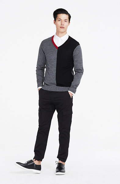 Colorblocked Merino Wool Sweater
