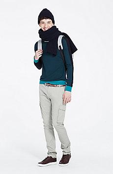 Colorblock Wool Sweater