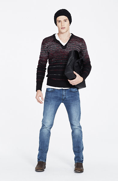 Ombre Striped Sweater