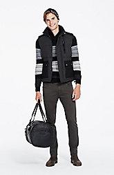 Merino Wool Striped Shawl Sweater