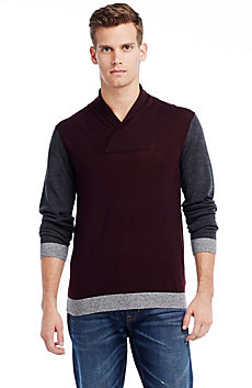 Merino Shawl-collar Sweater