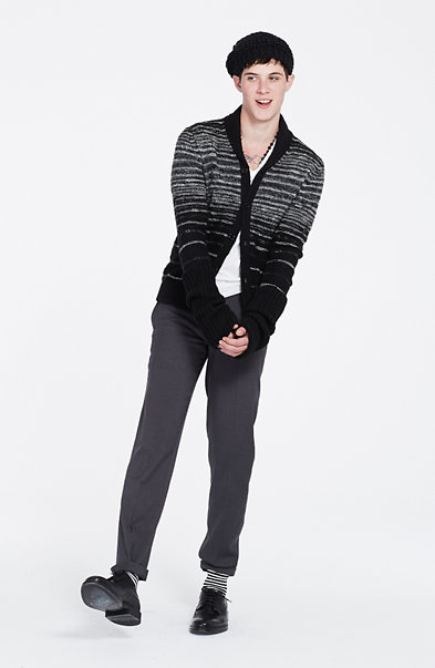 Ombre Striped Cardigan