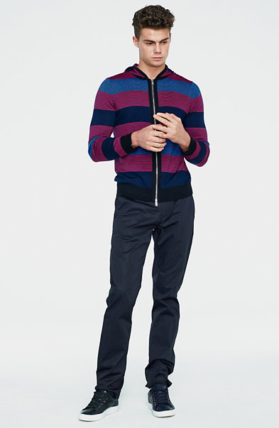 Feeder Striped Wool Hoodie