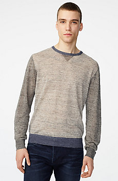 Pieced Linen Sweater
