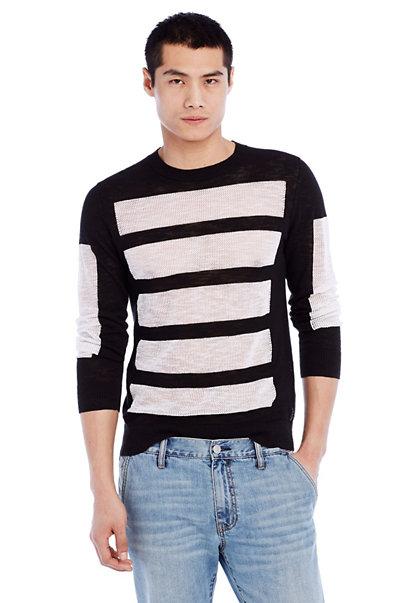 Mesh Panel Sweater
