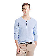 Ribbed Linen Henley