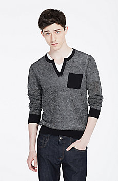Splitneck Pocket Sweater