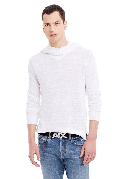 Slub Linen Hooded Sweater