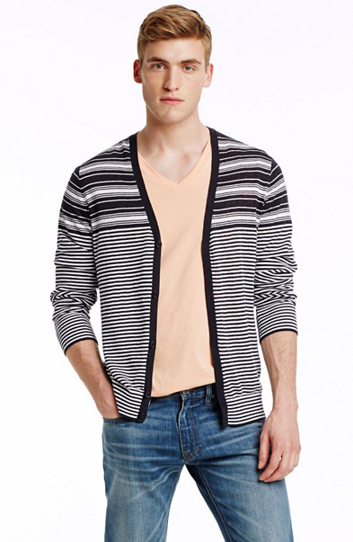 Alternating Stripe Cardigan