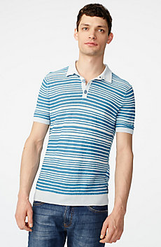 Variegated Linen Polo