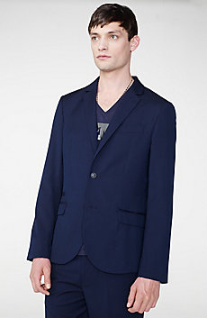Tropical Wool Two-Button Blazer