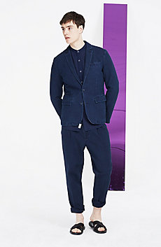 Indigo Canvas Blazer