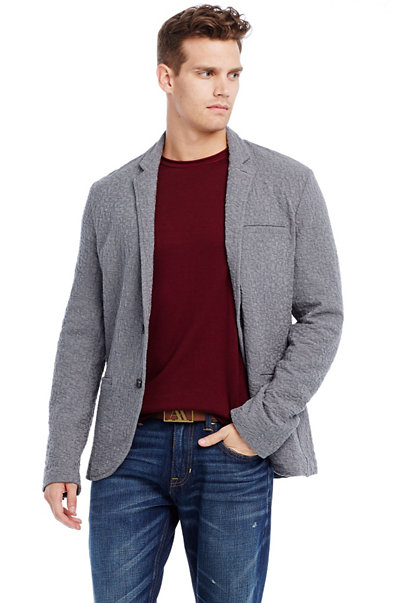 Textured Jacquard Cotton Blazer