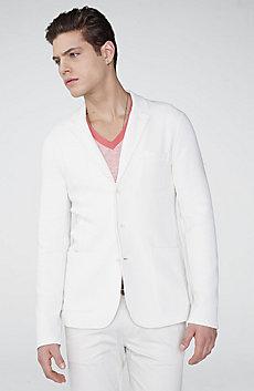 Knit Two-Button Shawl Blazer