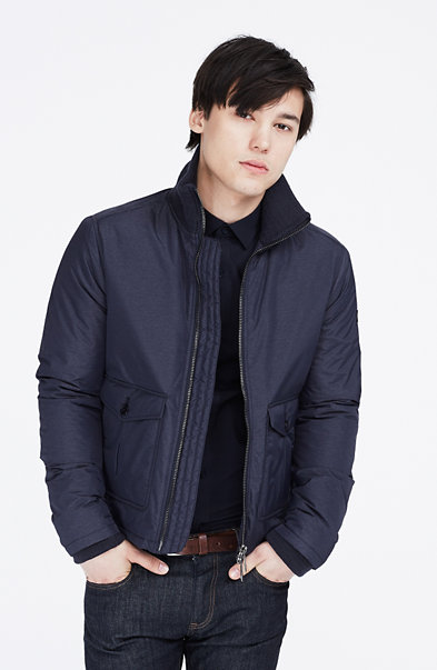 Nylon Zip-Front Jacket