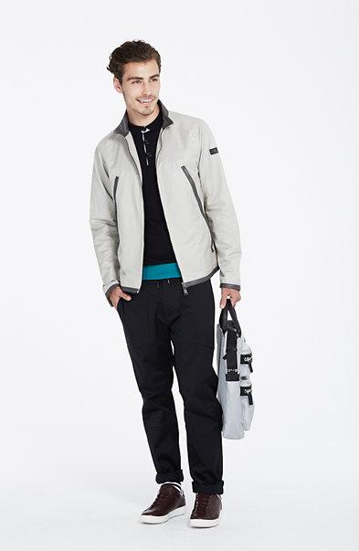 Leather Trim Jacket