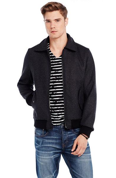 Italian Wool Bomber Jacket