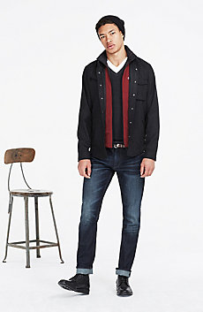 Wool Blend Shirt Jacket