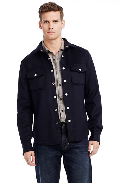 Italian Wool Shirt Jacket