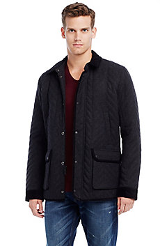 Herringbone Quilted Utility Coat