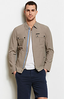 Nylon Utility Shirt Jacket