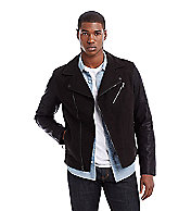 Mixed Media Moto Jacket