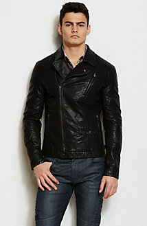 Faux Leather Biker Jacket<br>Online Exclusive