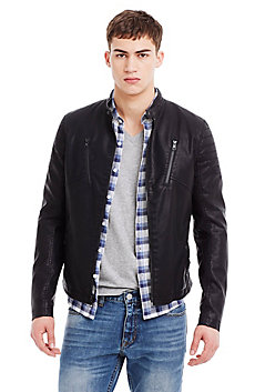 Coated Classic Moto Jacket