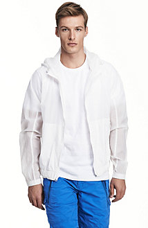 Hooded Nylon Windbreaker