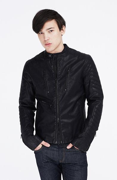 Coated Moto Jacket