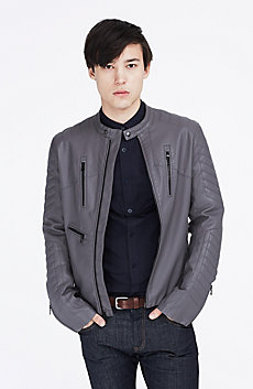 Coated Moto Jacket