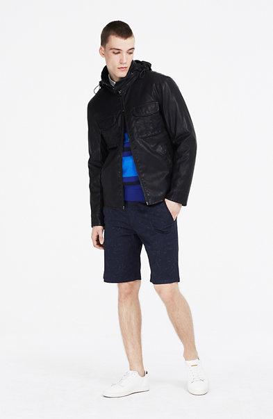 Coated Convertible Jacket