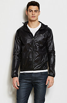Hooded Nylon Track Jacket