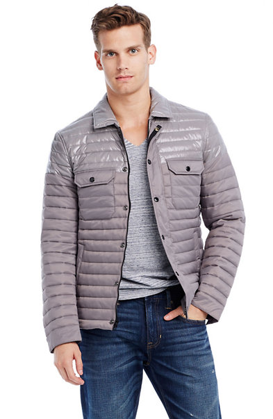 Contrast Quilted Nylon Jacket
