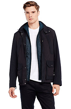 Nylon Jacket with Puffer Vest