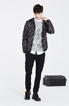 Printed Packable Nylon Jacket
