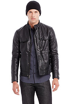 Stitched Leather Jacket