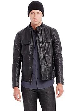 Stitched Leather Jacket