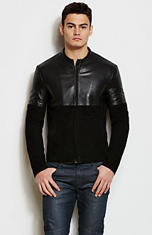 Mixed Leather Jacket