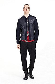 Leather & Suede Blocked Jacket