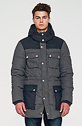 Wool Puffer Stadium Coat